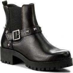 Botki TAMARIS - 1-25786-39 Black Leather 003. Szare botki damskie na obcasie marki Tamaris, z materiału. W wyprzedaży za 189,00 zł.
