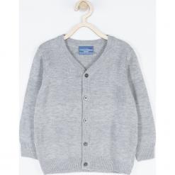 Sweter. Szare swetry chłopięce ELEGANT BABY BOY, z bawełny, z klasycznym kołnierzykiem. Za 85,90 zł.
