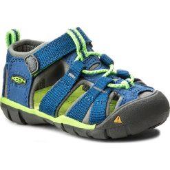 Sandały KEEN - Seacamp II Cnx 1014443 True Blue/Jasmine Green. Niebieskie sandały chłopięce Keen, z materiału. W wyprzedaży za 149,00 zł.