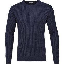 Swetry klasyczne męskie: Knowledge Cotton Apparel CABLE Sweter total eclipse