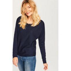 Sweter - Granatowy. Niebieskie swetry klasyczne damskie marki Vila, xs, z bawełny. Za 59,99 zł.