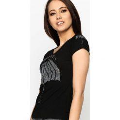 T-shirty damskie: Czarny T-shirt Underground