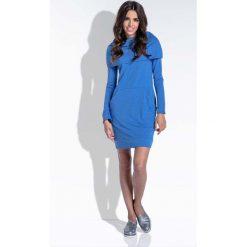 Sukienki: Niebieska Komfortowa i Kobieca Sukienka Mini