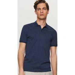 Koszulki polo: Wzorzysta koszulka polo – Granatowy