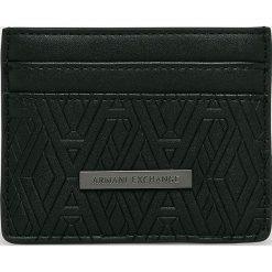 Armani Exchange - Portfel. Czarne portfele męskie marki Armani Exchange, l, z materiału, z kapturem. Za 239,90 zł.