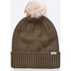 Converse - Czapka. Brązowe czapki zimowe damskie Converse, na zimę, z dzianiny. W wyprzedaży za 69,90 zł.