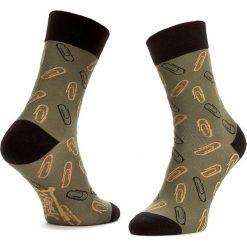 Skarpety Wysokie Męskie FREAK FEET - LSPI-GRB Zielony. Zielone skarpetki męskie Freak Feet, z bawełny. Za 19,99 zł.
