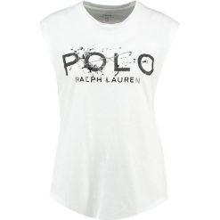 T-shirty damskie: Polo Ralph Lauren GRAP  Tshirt z nadrukiem white