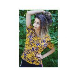 T-shirt damski TYGRYSY. Szare t-shirty damskie dzieńdobry, m, z nadrukiem, z bawełny, z dekoltem w łódkę. Za 99,00 zł.