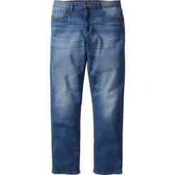 Dżinsy ze stretchem Classic Fit Straight bonprix niebieski. Niebieskie jeansy męskie regular bonprix. Za 109,99 zł.