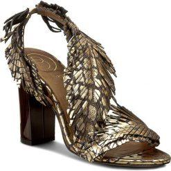 Rzymianki damskie: Sandały BALDOWSKI – D01511-3908-004 Ocelot Złoty