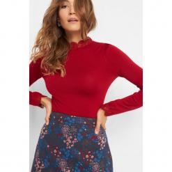 Sweter z koronkową stójką. Brązowe swetry klasyczne damskie marki Orsay, m, z dzianiny, ze stójką. Za 79,99 zł.