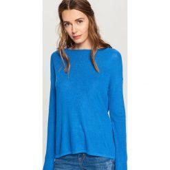 Swetry damskie: Sweter z lekkiej dzianiny - Niebieski