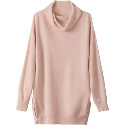 Sweter z golfowym kołnierzem, kaszmir. Szare golfy damskie marki La Redoute Collections, m, z bawełny, z kapturem. Za 563,22 zł.