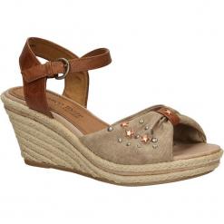 SANDAŁY MARCO TOZZI 2-28350-2. Brązowe sandały damskie marki Marco Tozzi. Za 99,99 zł.