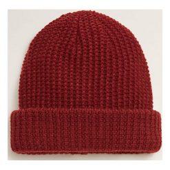Mango Man - Czapka Beanie. Brązowe czapki zimowe męskie Mango Man, z bawełny. Za 69,90 zł.
