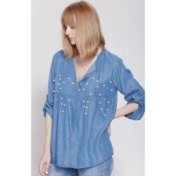 Bluzki damskie: Niebieska Bluzka Bossy
