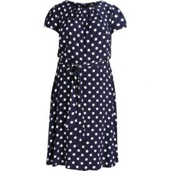 Sukienki hiszpanki: Dorothy Perkins Curve BILLIE AND BLOSSOM SPOT V NECK DRESS Sukienka letnia navy