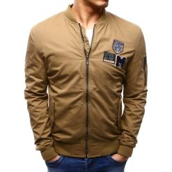 Kurtki męskie bomber: Kurtka męska bomber jacket beżowa (tx1535)