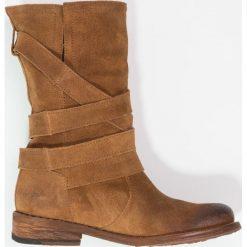 Felmini GREDO Kowbojki i obuwie motocyklowe brown. Brązowe buty zimowe damskie Felmini, z materiału. Za 679,00 zł.