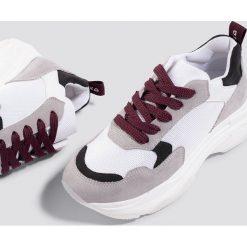 NA-KD Shoes Buty sportowe NA-KD Chunky - White. Białe buty sportowe damskie NA-KD Shoes, z gumy. Za 242,95 zł.