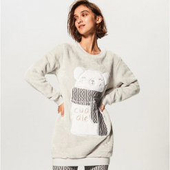 Piżama ze spodniami - Jasny szar. Czarne piżamy damskie marki Reserved, l. Za 129,99 zł.