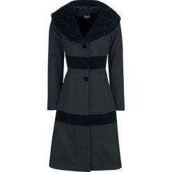 Płaszcze damskie pastelowe: Voodoo Vixen Black Coat Płaszcz damski czarny