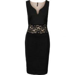 Sukienki: Sukienka z koronką bonprix czarno-jasnobrązowy
