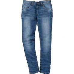 Dżinsy ze stretchem Slim Fit Tapered bonprix niebieski. Niebieskie jeansy męskie relaxed fit marki House. Za 109,99 zł.