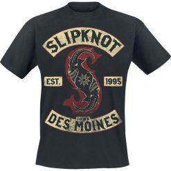 Slipknot Iowa Des Moines T-Shirt czarny. Czarne t-shirty męskie z nadrukiem marki Slipknot, m, z kapturem. Za 74,90 zł.