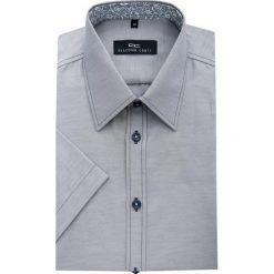 Koszula FABIO 14-02-13. Szare koszule męskie na spinki Giacomo Conti, m, z bawełny, z krótkim rękawem. Za 129,00 zł.