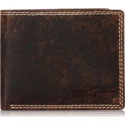 Brązowy SKÓRZANY PORTFEL MĘSKI Z OCHRONĄ KART RFID. Czarne portfele męskie marki Pakamera, ze skóry. Za 109,00 zł.