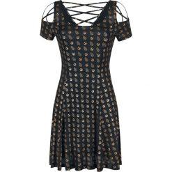 Star Wars Allover Sukienka czarny/metallic. Czarne sukienki na komunię marki Star Wars, na imprezę, xl, z motywem z bajki, z materiału, retro, z dekoltem na plecach. Za 164,90 zł.