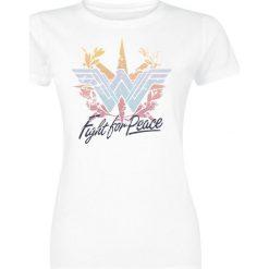 Bluzki asymetryczne: Wonder Woman Fight For Peace Koszulka damska biały