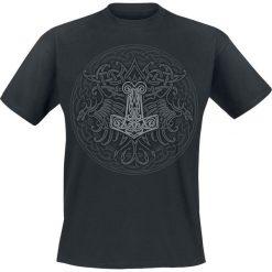 Celtic Viking Shield T-Shirt czarny. Czarne t-shirty męskie z nadrukiem Celtic Viking Shield, m, z bawełny, z okrągłym kołnierzem. Za 74,90 zł.