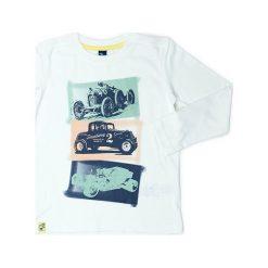 Koszulka w kolorze białym. Białe t-shirty chłopięce z długim rękawem Street Monkey, z bawełny. W wyprzedaży za 39,95 zł.