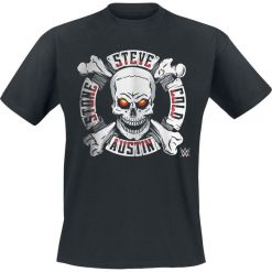 T-shirty męskie z nadrukiem: WWE Steve Austin – Stone Cold T-Shirt czarny