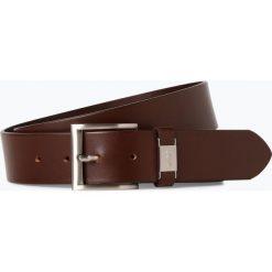 BOSS - Męski pasek skórzany – Connio, brązowy. Brązowe paski męskie Boss, w paski, eleganckie. Za 249,95 zł.