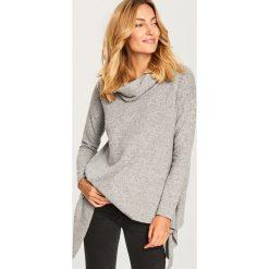 Sweter z szeroką stójką - Jasny szar. Szare swetry klasyczne damskie marki Reserved, l, ze stójką. Za 79,99 zł.