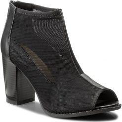 Botki JENNY FAIRY - W16SS093-7 Czarny. Czarne buty zimowe damskie Jenny Fairy, z materiału. Za 99,99 zł.