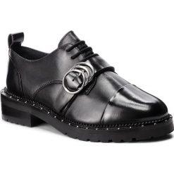 Oxfordy BRONX - 66195-F Black 01. Czarne jazzówki damskie marki Bronx, z materiału. W wyprzedaży za 359,00 zł.