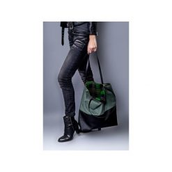 Torebki klasyczne damskie: torba duo zielono czarna.