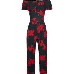 Innocent Miljia Jumpsuit Kombinezon czarny/czerwony. Niebieskie kombinezony damskie marki Innocent, xl, w ażurowe wzory, z materiału, z dekoltem na plecach. Za 79,90 zł.
