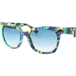 """Okulary przeciwsłoneczne damskie aviatory: Okulary przeciwsłoneczne """"0001/S XAC/56"""" w kolorze limonkowo-niebieskim"""