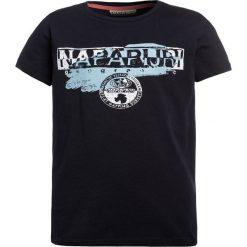 Napapijri SHADOW  Tshirt z nadrukiem blu marine. Szare t-shirty męskie z nadrukiem marki Napapijri, l, z materiału, z kapturem. Za 129,00 zł.