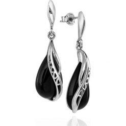 Kolczyki damskie: Kolczyki Srebrne – srebro 925, Onyks