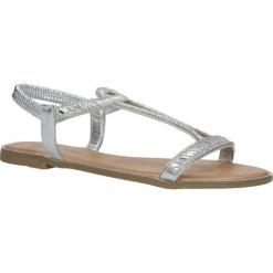Srebrne sandały z kryształkami Casu WL208. Szare sandały damskie Casu. Za 49,99 zł.