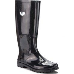 Kalosze CHIARA FERRAGNI - 18AI-CF2188 Black. Czarne buty zimowe damskie Chiara Ferragni, z materiału. W wyprzedaży za 649,00 zł.