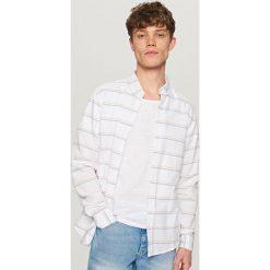 Koszule męskie: Koszula w paski – Biały