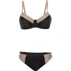 """Bez Kategorii: Bikini na fiszbinach """"minimizer"""" (2 części) bonprix czarno-naturalny"""